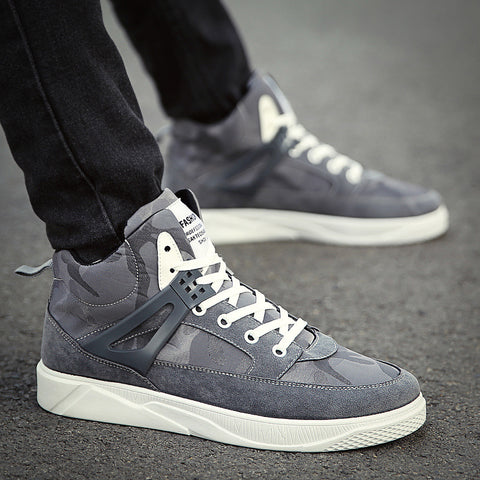 Casual Camouflage Round Toes High-Top Sneakers