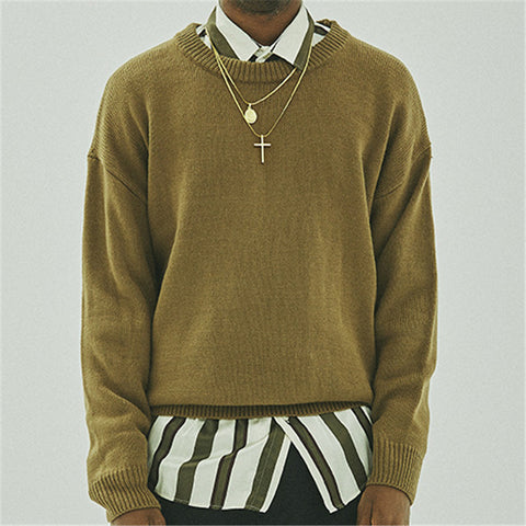 Loose Solid Color Knit Sweater