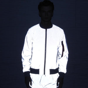 Hip Hop Reflective Baseball Uniform Jacket