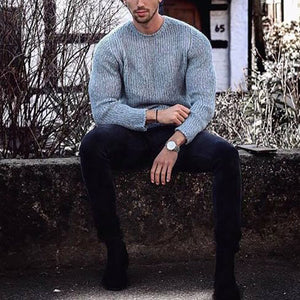 Winter Casual Round Neck Sweater