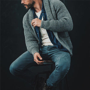 Men's Solid Color Knit Cardigan