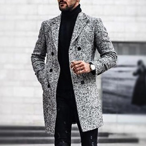 Casual Double Breasted Slim Outerwear Overcoat