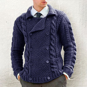 literary Pure Colour Turndown Collar Woollen Coat
