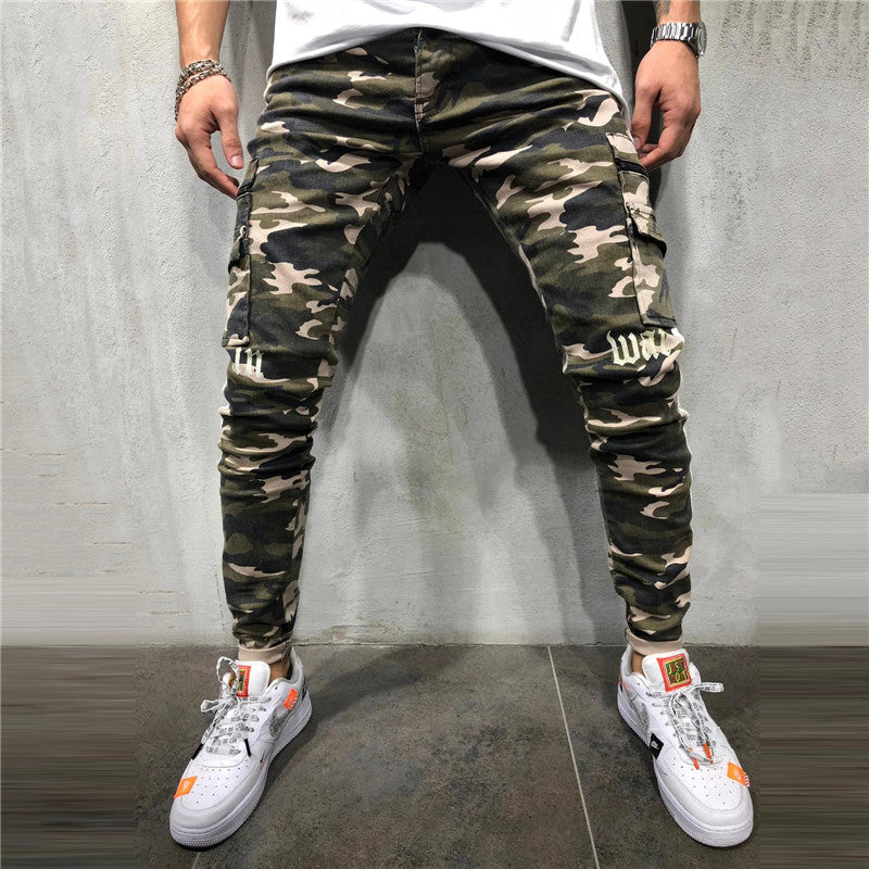 Casual Camouflage Flap Pocket Pant