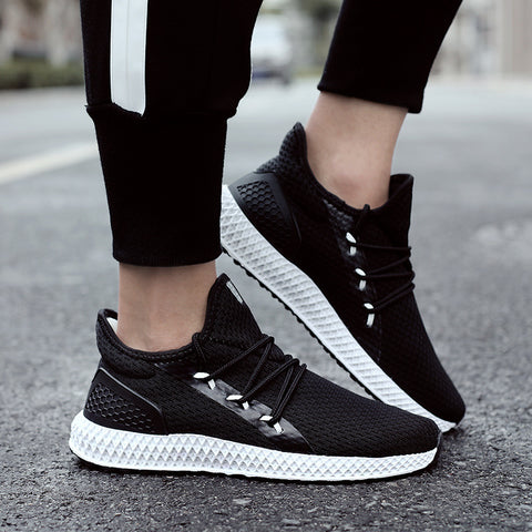 Men's casual mesh breathable color matching sneakers