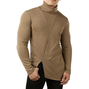 Fashion Pure Color High Collar Long Sleeve Sweatshirt