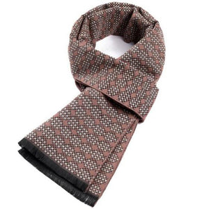 cashmere double-sided style jacquard plaid scarf