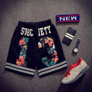 Casual Sports Five Pants Black Shorts