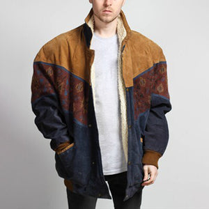 Men's Casual Coloring Printed Color Single-breasted Jacket