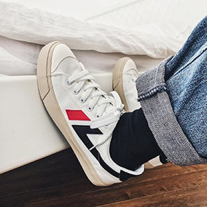 Men's casual colorblock striped sneakers