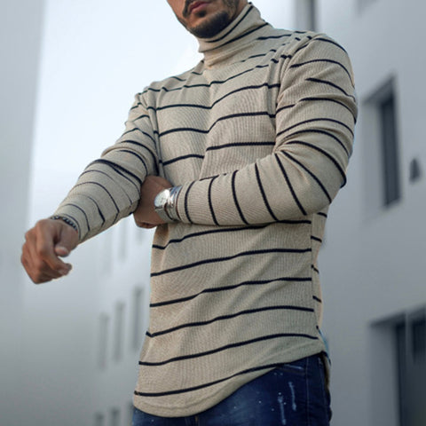 Men's Fashion Striped Long Sleeve T-Shirt