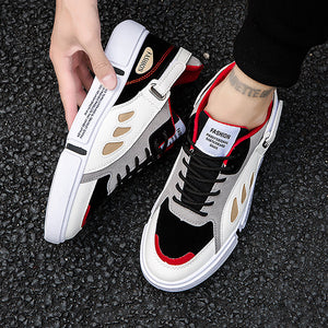 Men Casual Letters Colouring Flat Sneakers