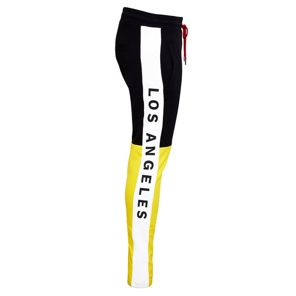 Track Pants black-yellow