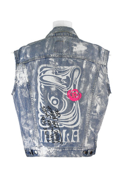 HANDPAINTED DENIM VEST (SP No. 12)