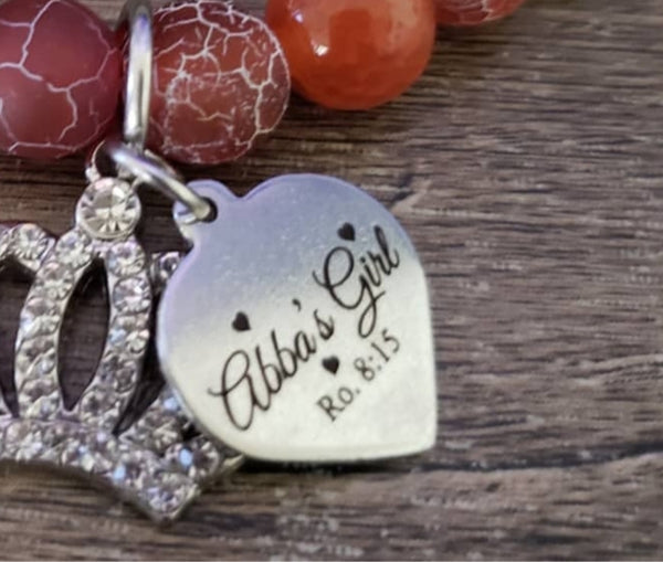 Abba's Girl Heart Charm