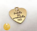 I Am Fearfully & Wonderfully Made Gold Heart