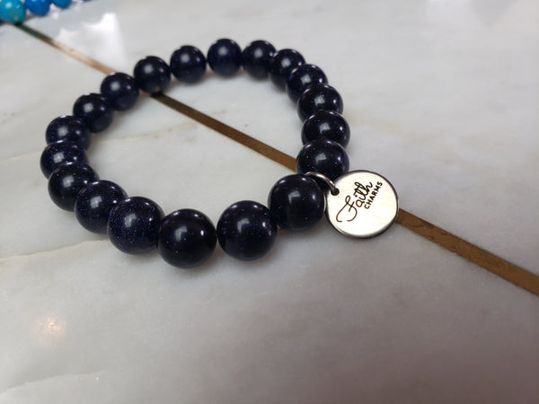 Midnight Shimmer Blue Bracelet