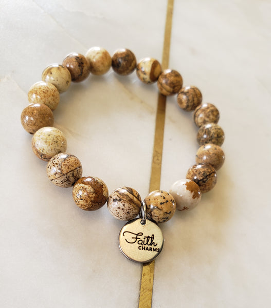 Smooth Wood Jasper Bracelet