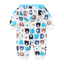 Load image into Gallery viewer, Avie Cat Long-Sleeve Jumpsuit