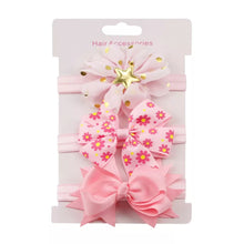 Load image into Gallery viewer, Girls Bowknot Elastic Floral headband