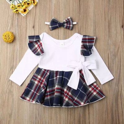 Christmas Baby Girlie Top and Suspender Skirt Set