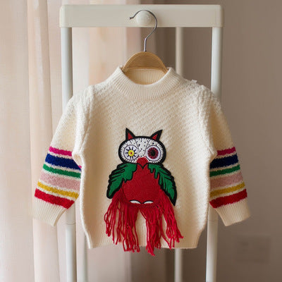 Awal-Knit Sweater for Toddler  Girls