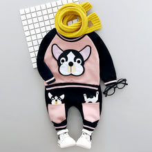 Load image into Gallery viewer, Adorable Dog Long Sleeve  print 2 pieces set
