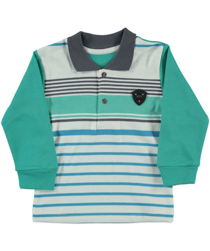 Rolly Baby Boy Leave Printed LongSleeve Top