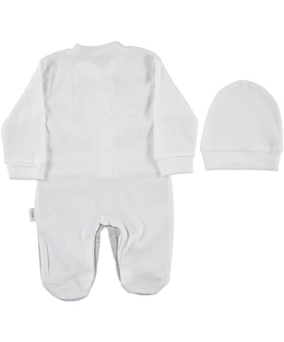 Cute Baby Bell Long-Sleeve  Newborn Overal Set