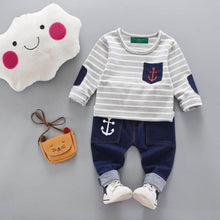 Load image into Gallery viewer, Baby Lizy Anchor Long-Sleeve 2 Pieces set
