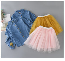 Load image into Gallery viewer, Trendy Tutu Skirt and Denim Top Set