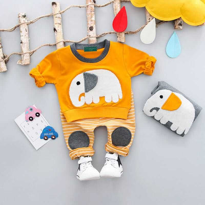 Printed Unisex Adorable  Elephant Set (without Fleece)