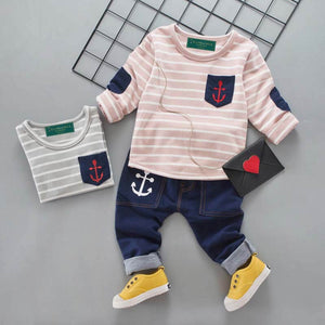 Baby Lizy Anchor Long-Sleeve 2 Pieces set