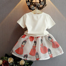 Load image into Gallery viewer, Bella Princess Print Short-Sleeve Tee and Tulle Set for Baby Girl