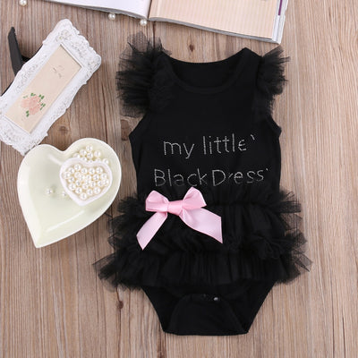 Newborn Little Princess  Black  Bodysuit