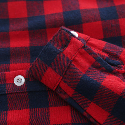 Lee Plaid Long-Sleeve Cotton Shirt