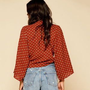 On the Road Wrap Blouse