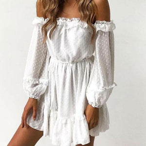 Snow White Off Shoulder Dress
