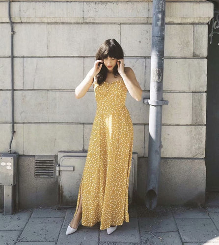 Sunshine Polka Dots Maxi Dress