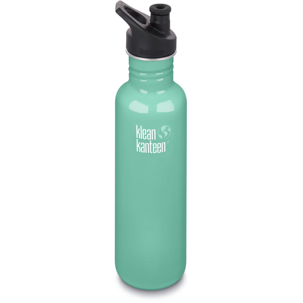 Klean Kanteen Classic Drinkfles met Sport Cap, 800 ml Sea Crest - Needs To Travel