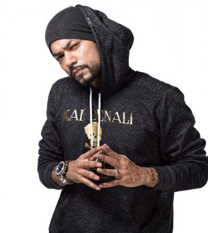 Bohemia Golden Hoodie with Beanie