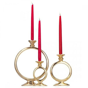 O Candle Holders in Gold