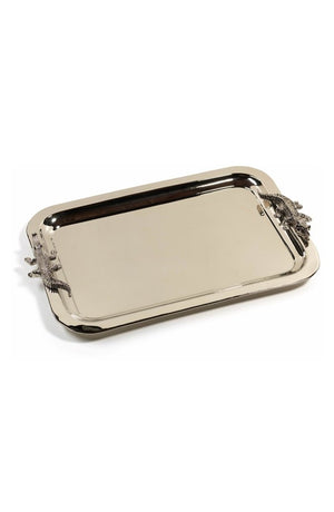 Croco Handle Serving Tray