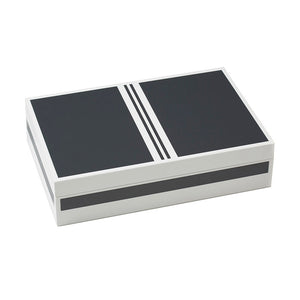 Grey Lacquer Poker Set