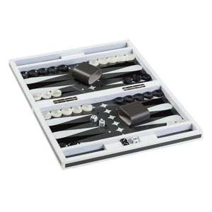 Grey Lacquer Backgammon Set