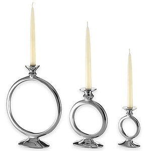 O Candle Holders in Silver