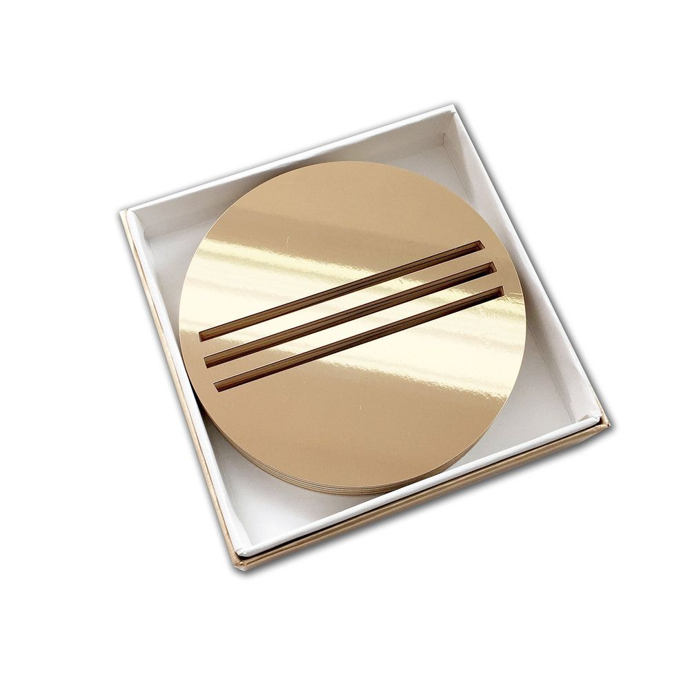 Gold Bond Coasters - set of 6
