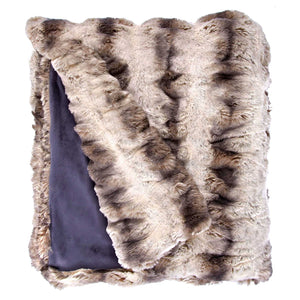 Truffle Mink Faux Fur Throw