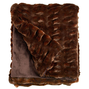 Mahogany Chinchilla Faux Fur Throw