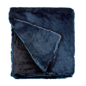 Blue Mink Couture Faux Fur Throw